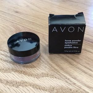 Avon loose powder eyeshadow midnight mauve